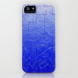 Blue Art Assembly iPhone Case