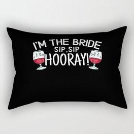 I'm The Bride Sip Sip Hooray Bachelorette Party Rectangular Pillow