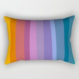 Modern Bright Rainbow Abstract Stripes Rectangular Pillow