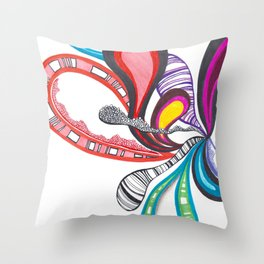 Fanning Teardrops Abstract Throw Pillow