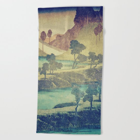 A Valley in the Evening Beach Towel
