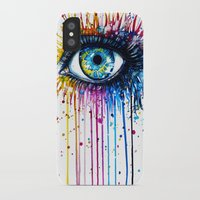 "power iPhone & iPod Cases featuring ""Rainbow Eye"" by PeeGeeArts"