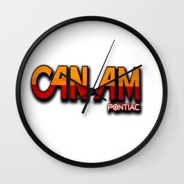 Can Am Crazy Revisited Wall Clock