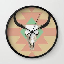 Tribal long horn Wall Clock