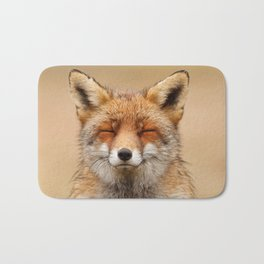 Zen Fox (Red Fox smiling) Bath Mat