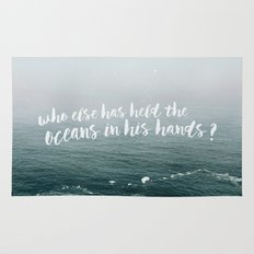 HELD THE OCEANS? Rug