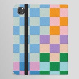 Checkerboard Collage iPad Folio Case