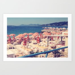 South of France Umbrellas, near Cannes Art Print