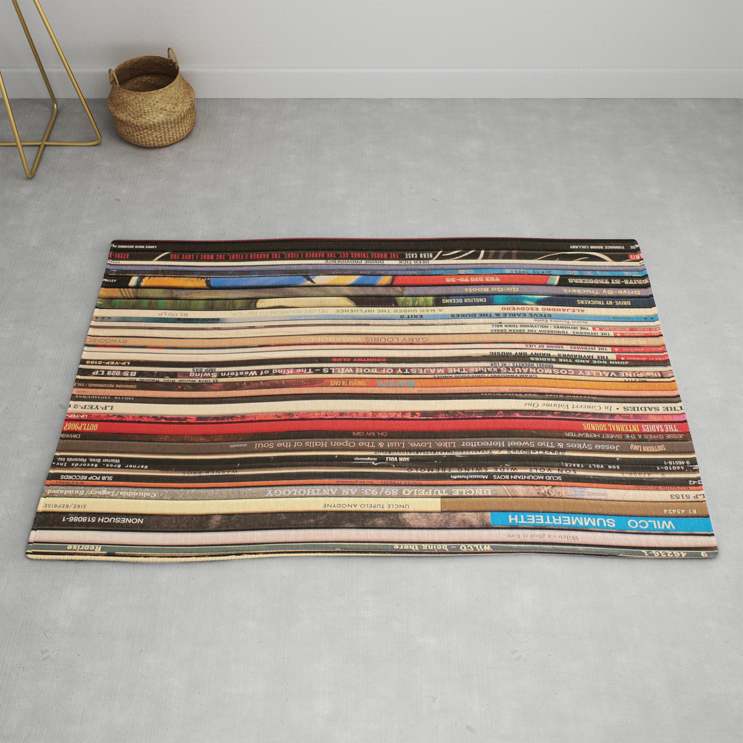 Alt Country Rock Records Rug By Nmtdot Society6