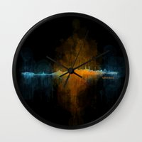 islam Wall Clocks featuring Istanbul City Skyline Hq v4 by HQPhoto