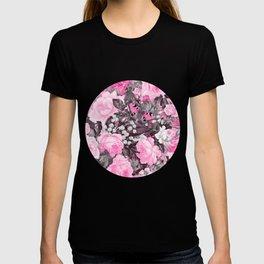 Floral pink vintage pattern T-shirt