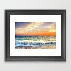 Sunset delight Framed Art Print