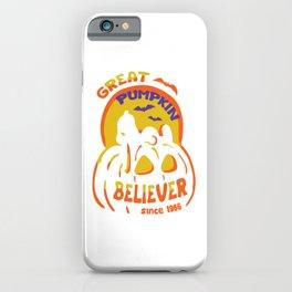 GREAT PUMPKIN BELIEVER HALLOWEEN iPhone Case
