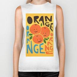 Orange A Tang Biker Tank