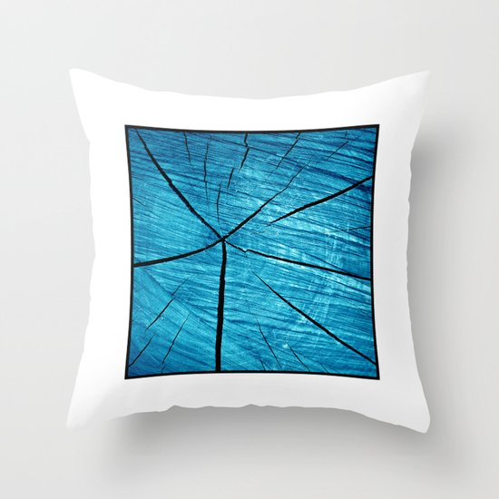 wood abstract II Throw Pillow