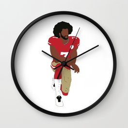 Kneeling Kaepernick Wall Clock