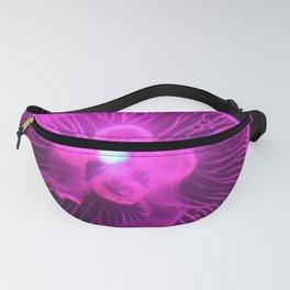 Glowing Magenta Jellyfish II Fanny Pack
