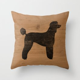 Standard Poodle Silhouette(s) Throw Pillow