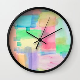 Watercolors Wall Clock