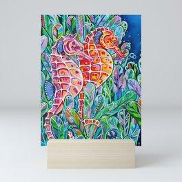 Seahorses Mini Art Print