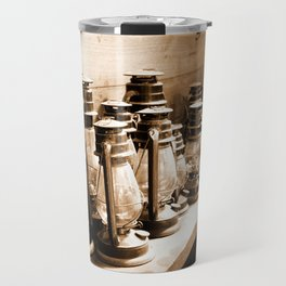 Lanterns Sepia Travel Mug