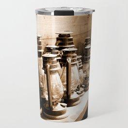 Lanterns Sepia Travel Mug