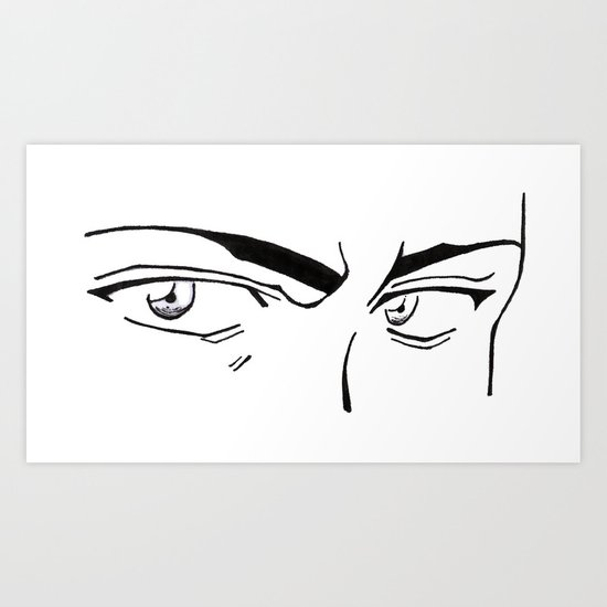 Doubt eyes Art Print