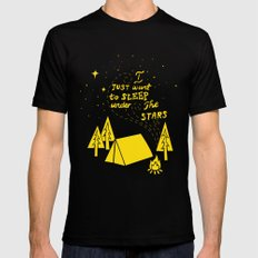 I Just Want To Sleep Under The Stars Mens Fitted Tee MEDIUM Black