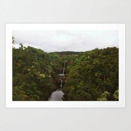 Umauma Falls #3. Art Print