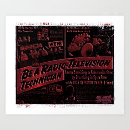 Radio TV - Tech Art Print