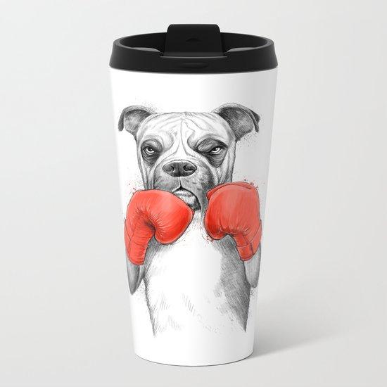 boxer Metal Travel Mug
