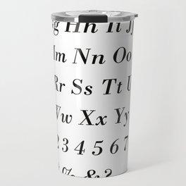 Bodoni STD Font Family Travel Mug