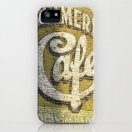Butte Montana - Creamery Cafe For Ladies iPhone Case