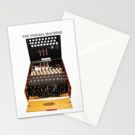 The Secret Code Machine enigma Stationery Cards