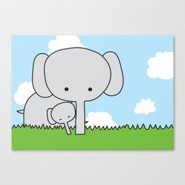 Mommy Elephant Canvas Print