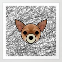 chihuahua Art Prints featuring Chihuahua by lllg