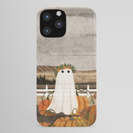 There's a Ghost in the Pumpkins Patch Again... iPhone Case