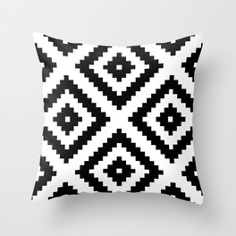 Tribal W&B Throw Pillow