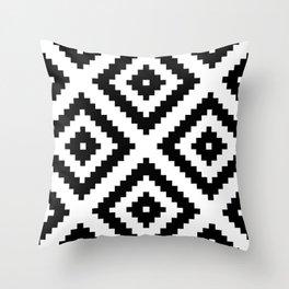 Tribal W&B Throw Pillow