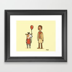 Cowboy and Indian Framed Art Print