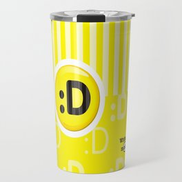 Yellow Writer's Mood Travel Mug