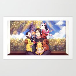 I WILL ALWAYS REMEMBER THIS - Markiplier + FNAF Art Print