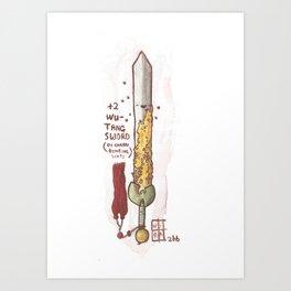 +2 Wu-Tang Sword of Cherry Bombing Shit Art Print