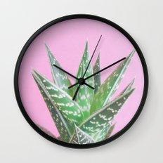 Pink Aloe Tiki Wall Clock