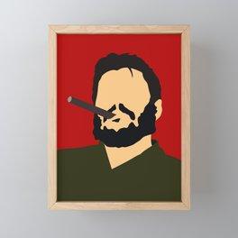 Che Guevara ilustration Framed Mini Art Print