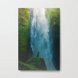 Waterfall Valley (Color) Metal Print