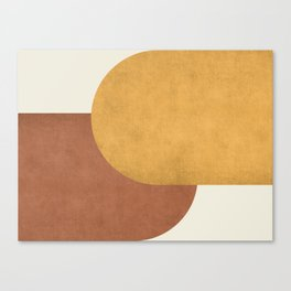 Halfmoon Colorblock - Gold Brown Canvas Print