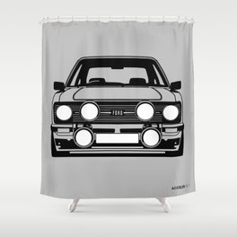 Escort Mk2 - (Black and white on a grey background) Shower Curtain