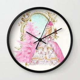 Marie Antoinette Christmas Wall Clock