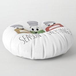 Season's Greetings | Garlic, Oregano & Paprika Floor Pillow